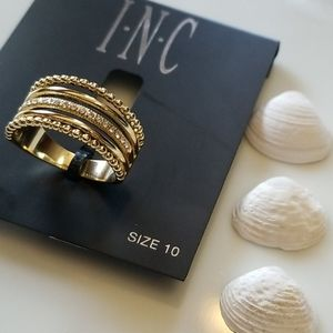 2/$28 INC crystal stack ring